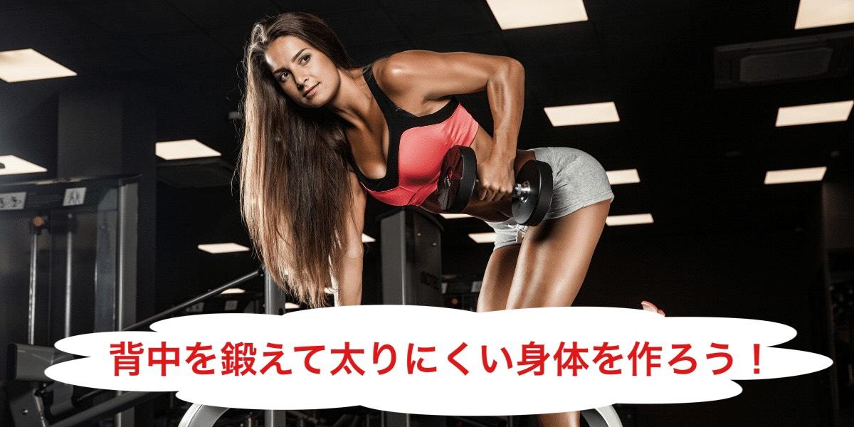 筋トレ初心者におすすめ!背中を鍛えて太りにくい身体をつくろう!